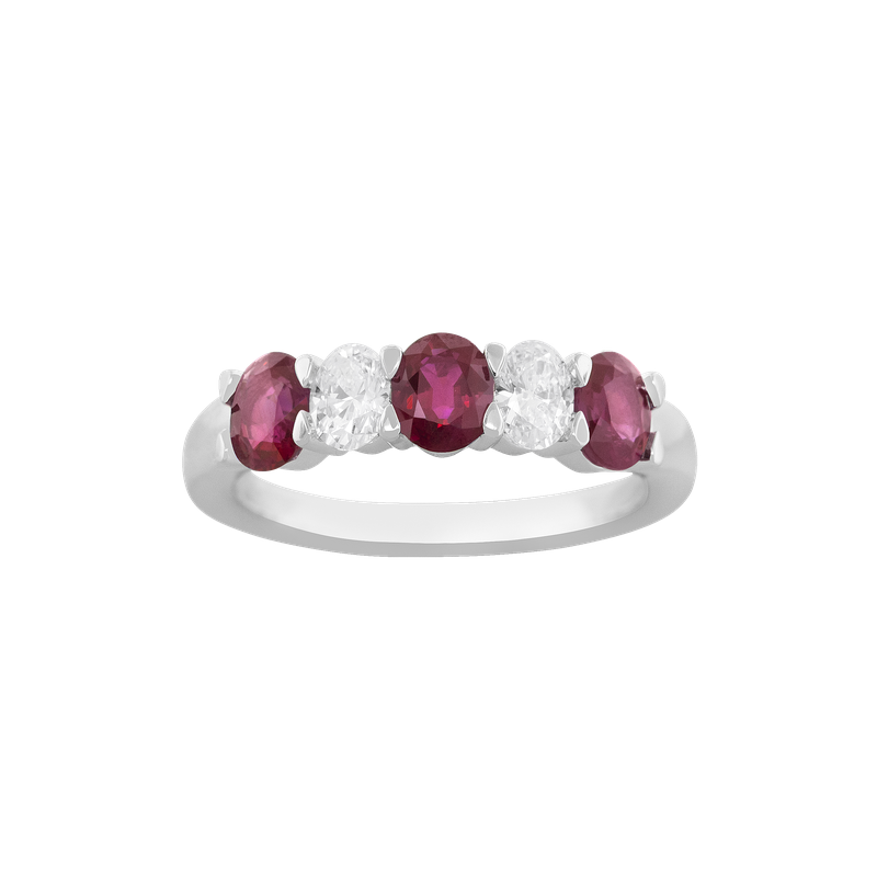 Spark Creations Oval Ruby and Diamond Ring