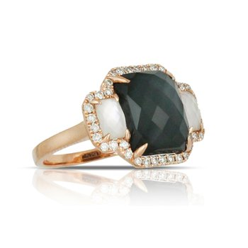 Haute Hematite Domino Ring