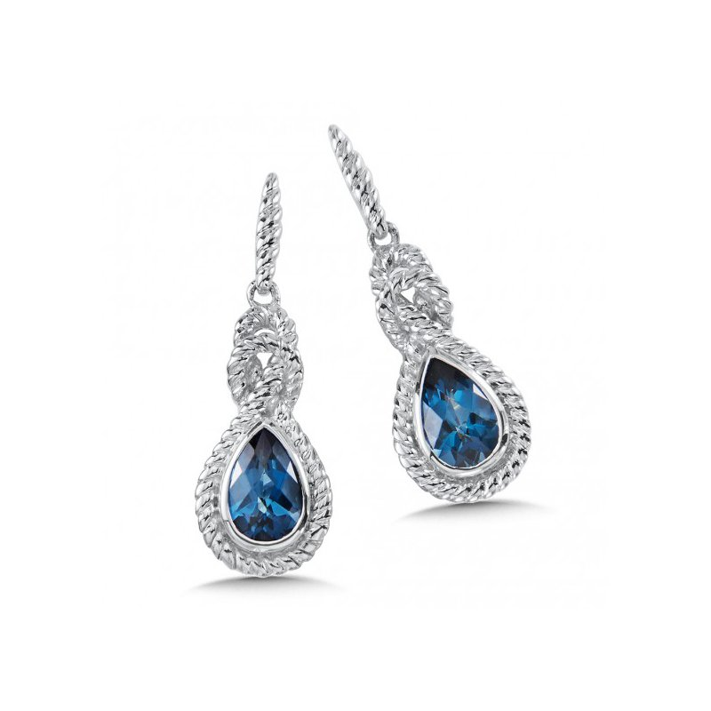 Colore SG London Blue Topaz Drop Earrings