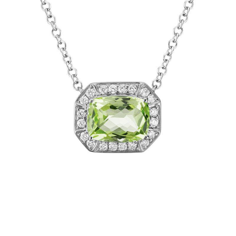 Artistry Limited Peridot and Diamond Halo Necklace