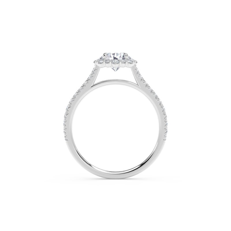 Forevermark Engagement & Commitment Collection Center of My Universe® Floral Halo Engagement Ring with Diamond Band