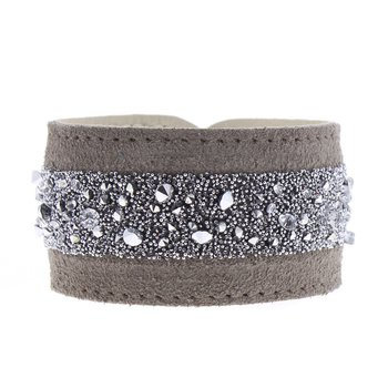 Medley Crystal Leather Roll Up Bracelet