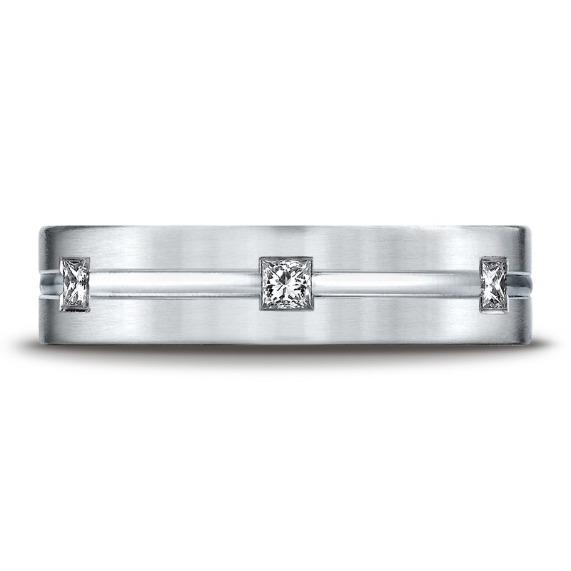 Benchmark Gents 14kt white gold diamond wedding band