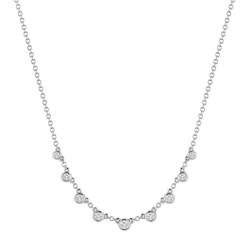 DA Gold Diamond Bezel Necklace