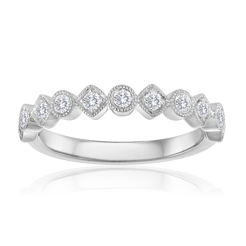 Forevermark Round and Square Diamond Stacking Band