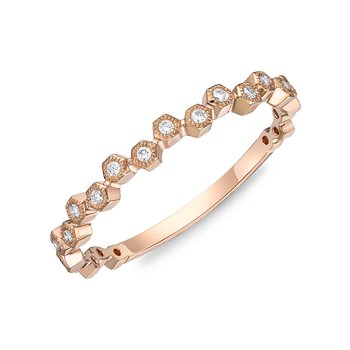 Offset Diamond Round Square Stacking band