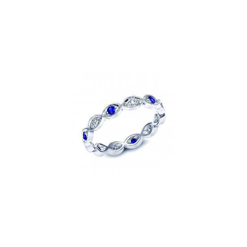 Coast Diamond Blue Sapphire and Diamond Band