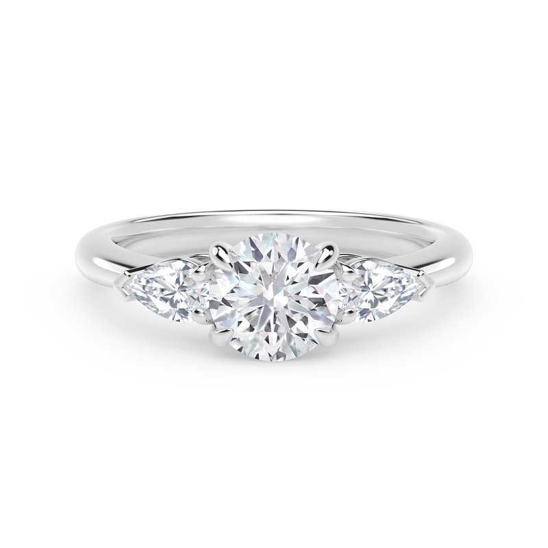 Forevermark Engagement & Commitment Collection Forevermark Accents™Engagement Ring with Pear Sides