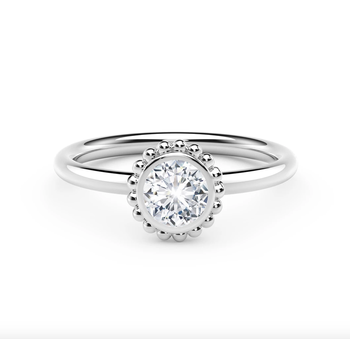 The Forevermark Tribute ™ Collection Beaded Diamond Ring