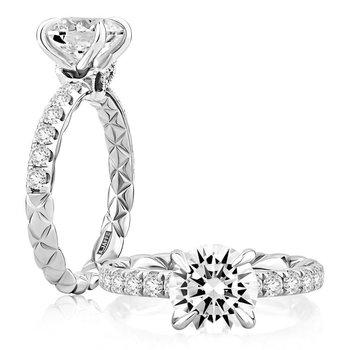 Duchess Round Diamond Engagement Ring