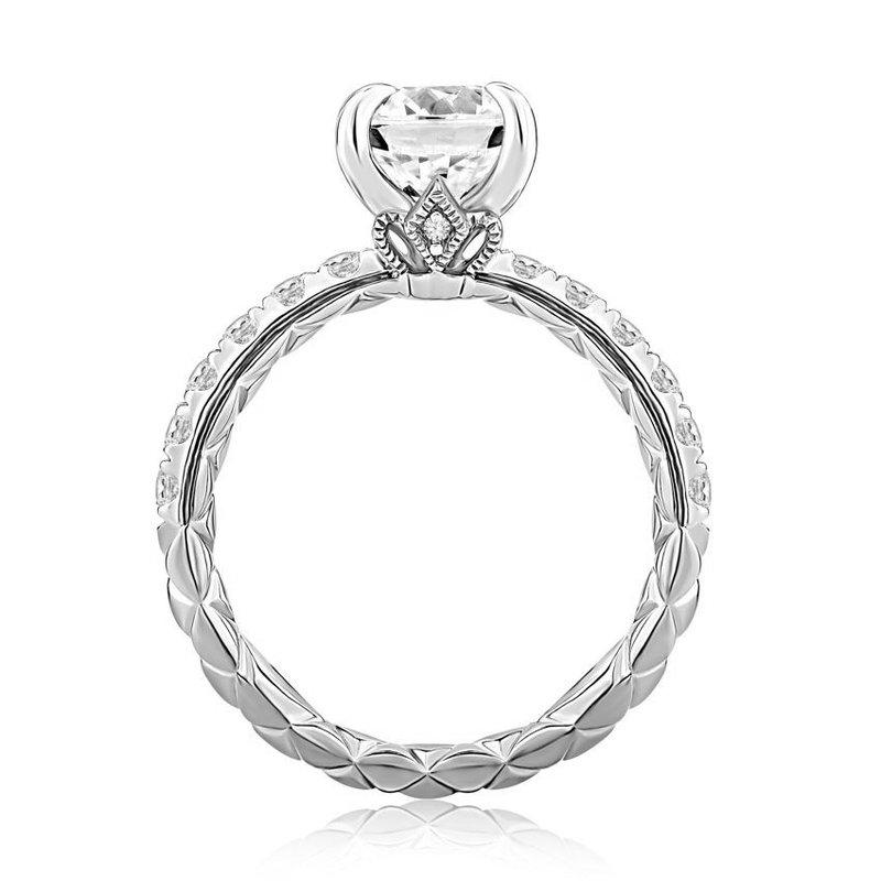 A. Jaffe Duchess Round Diamond Engagement Ring