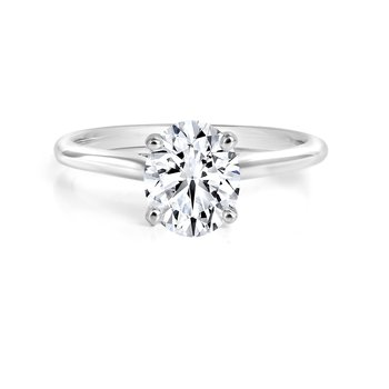 Black Label Oval Solitaire