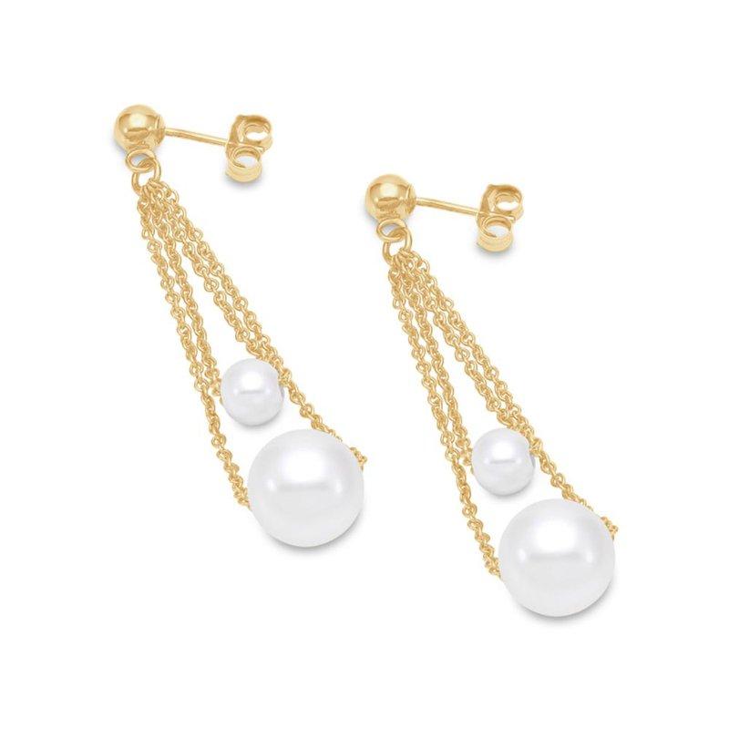 Mastoloni Pearls Double Chain Drop Earrings