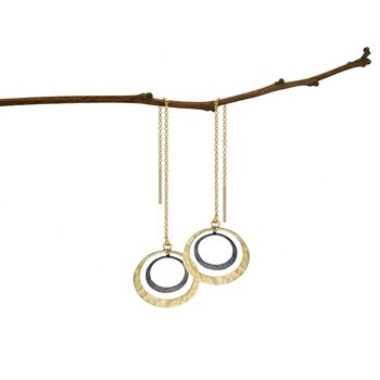 Petite Lunar Eclipse Threader Earrings