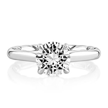 Baroness Solitaire Diamond Engagement Ring