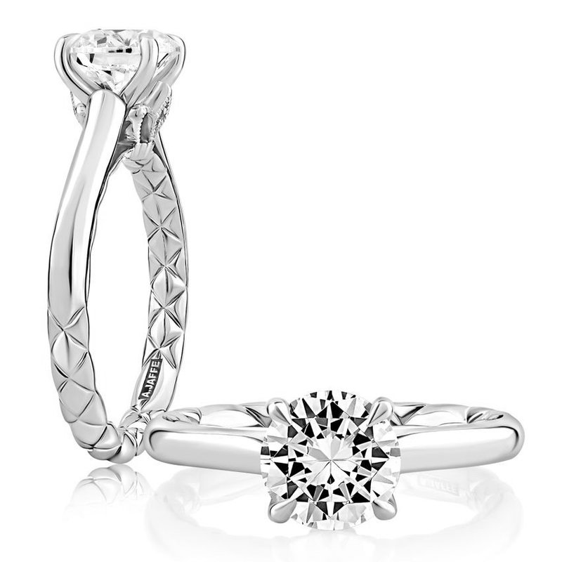 A. Jaffe Baroness Solitaire Diamond Engagement Ring
