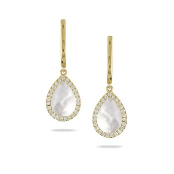 White Orchid Drop Earrings