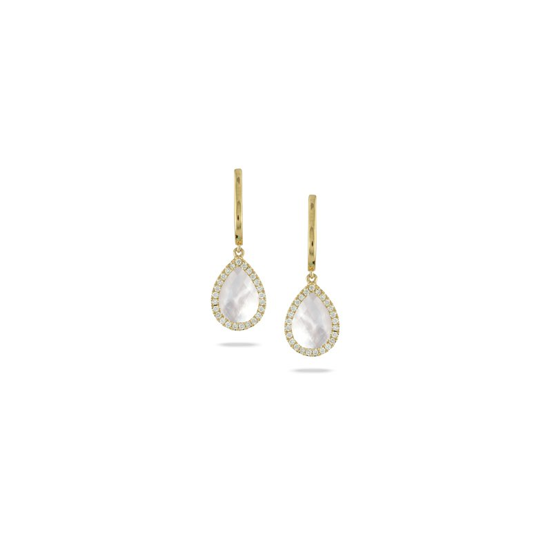 Doves White Orchid Drop Earrings
