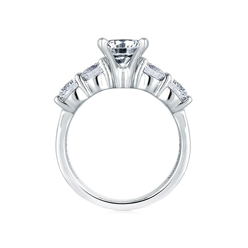 A. Jaffe Classic Five Stone Engagement Ring