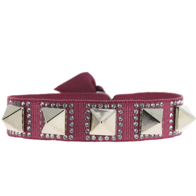 Les Interchangeables Pyramid Ribbon Bracelet 8