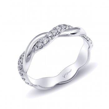 Diamond Twist Wedding Band