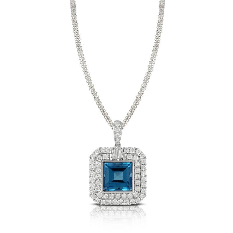 Doves London Blue Topaz and Diamond Pendant