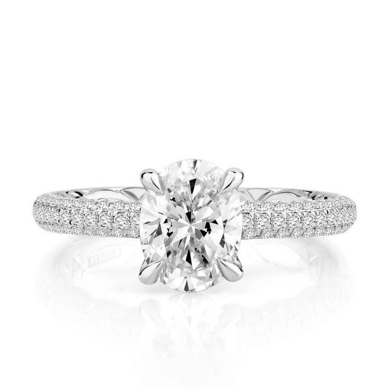 A. Jaffe Opulent Oval Cut Signature Diamond Engagement Ring