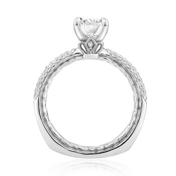 Opulent Oval Cut Signature Diamond Engagement Ring