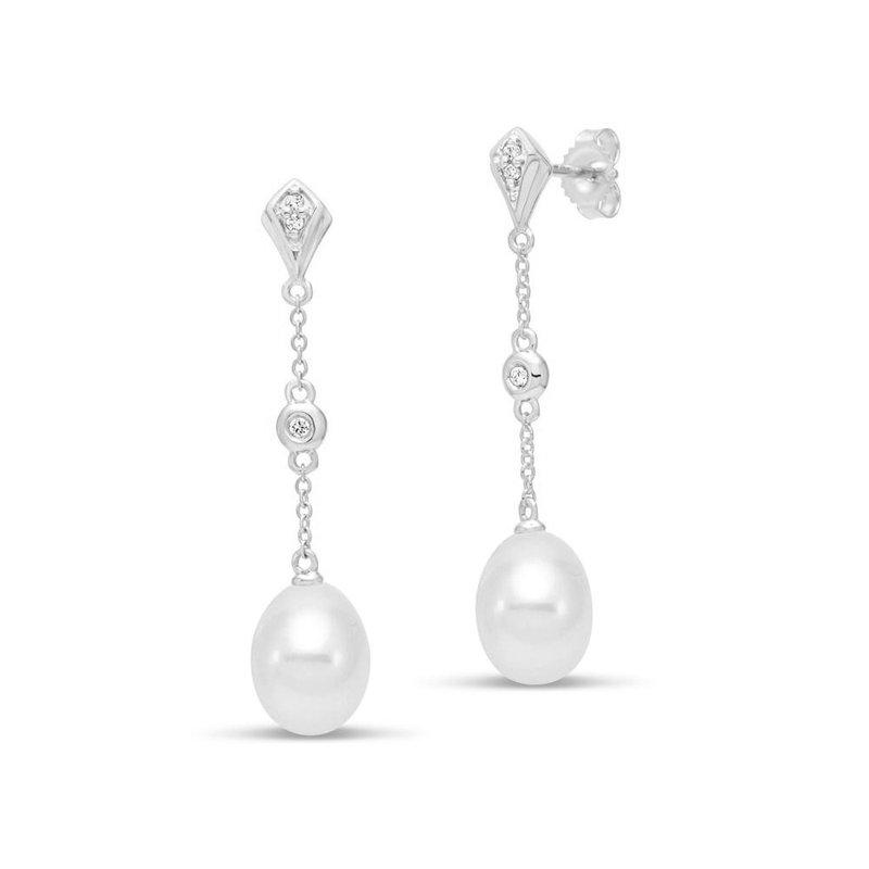 Mastoloni Pearls Chain Drop Earrings