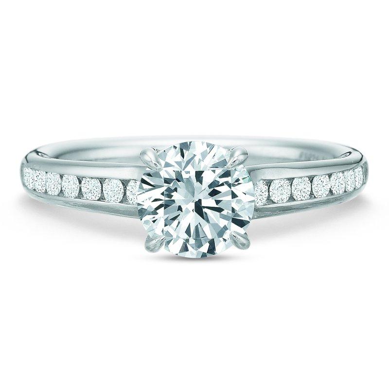 Precision Set Flush Fit Round Diamond Channel Engagement Ring