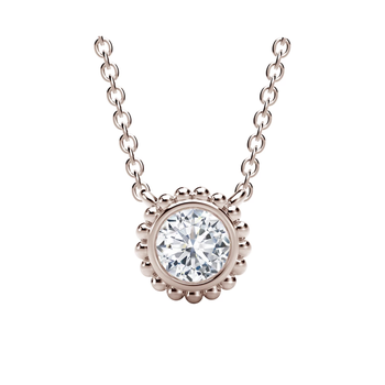 The Forevermark Tribute™ Collection Round Beaded Pendant