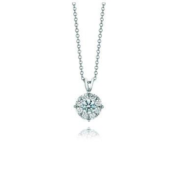 Forevermark® Round Diamond Cluster Pendant