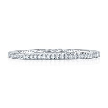Delicate Quilted Eternity Band