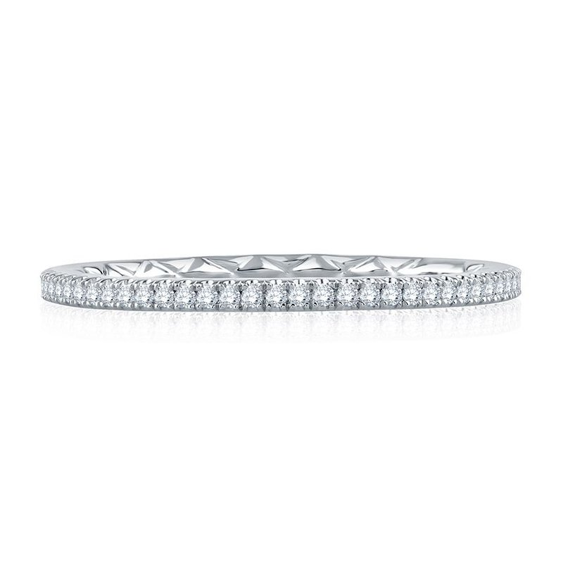 A. Jaffe Delicate Quilted Eternity Band