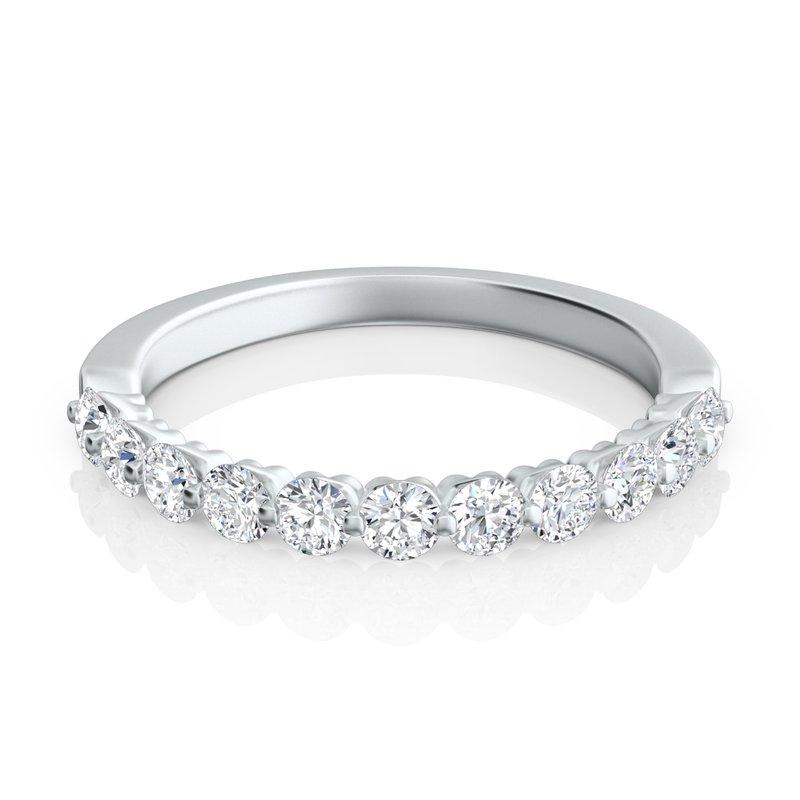 "Sasha Primak Round Diamond ""Royal Prong"" Wedding Band"