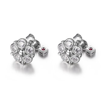 Bubble Collection Cluster Earring