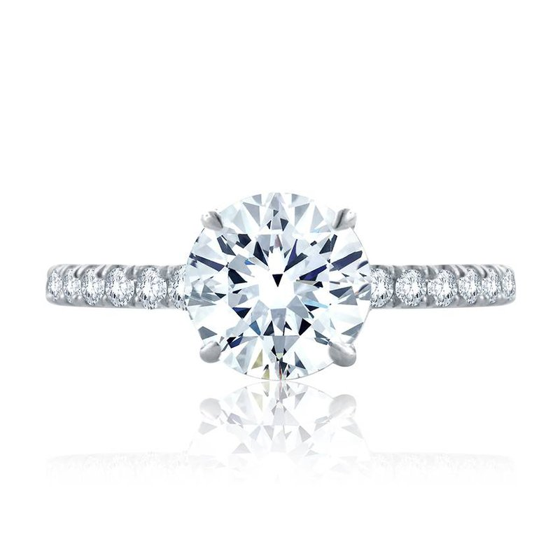 A. Jaffe Statement Round Quilted Engagement Ring
