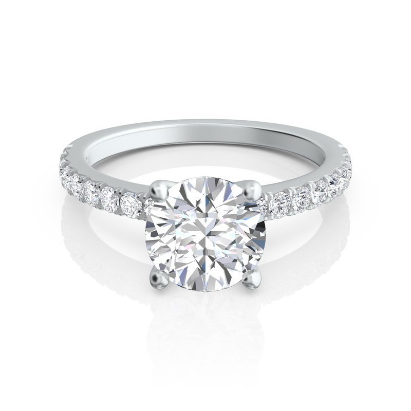 Sasha Primak Pave Diamond Engagement Ring