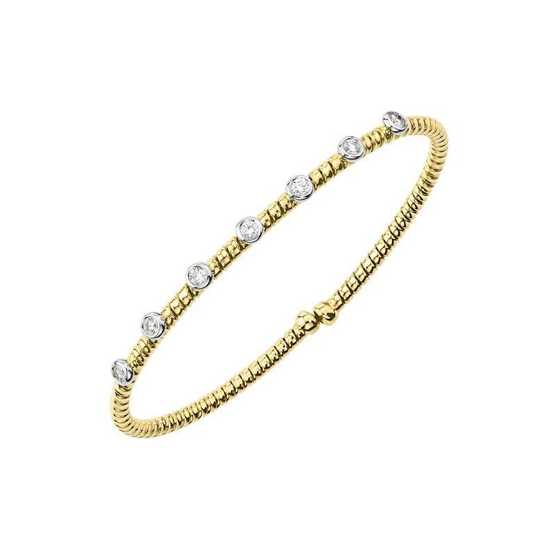 DA Gold Diamond Bezel Stacking Bracelet