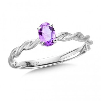 Purple Amethyst Stackign Ring