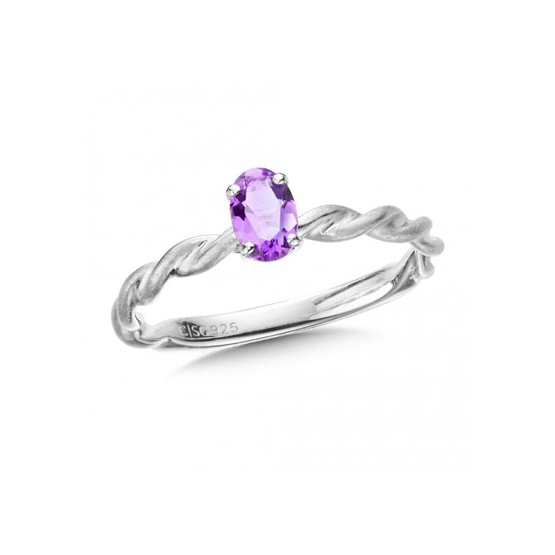 Colore SG Purple Amethyst Stackign Ring