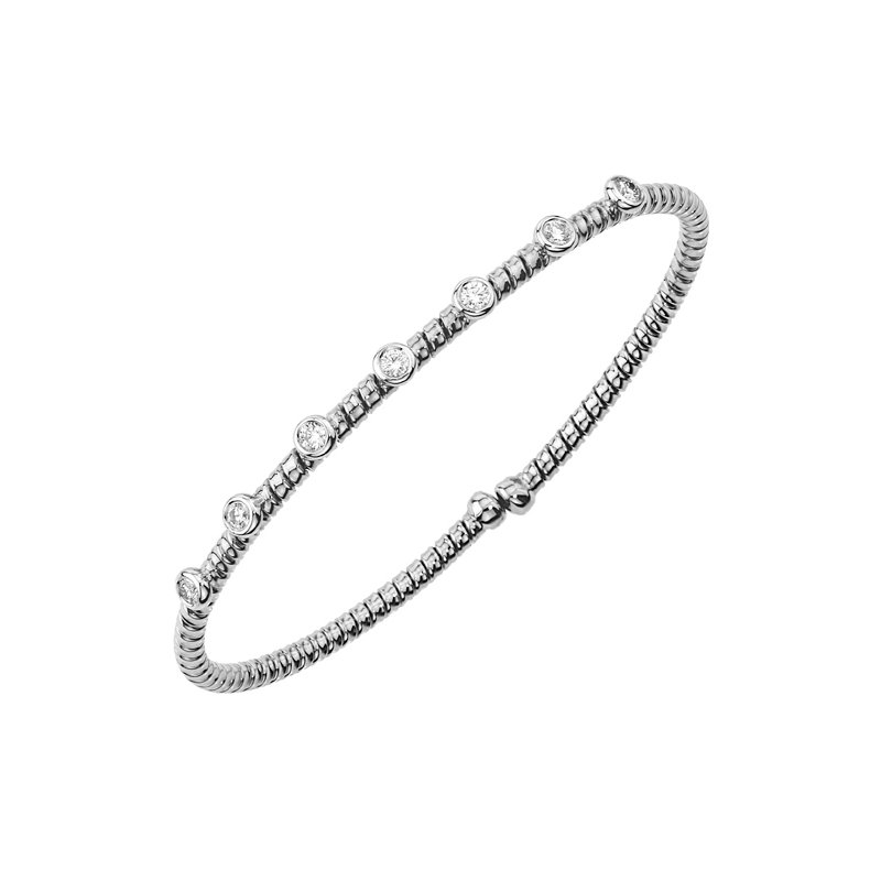 DA Gold Diamond Bezel Stacking Bracelet