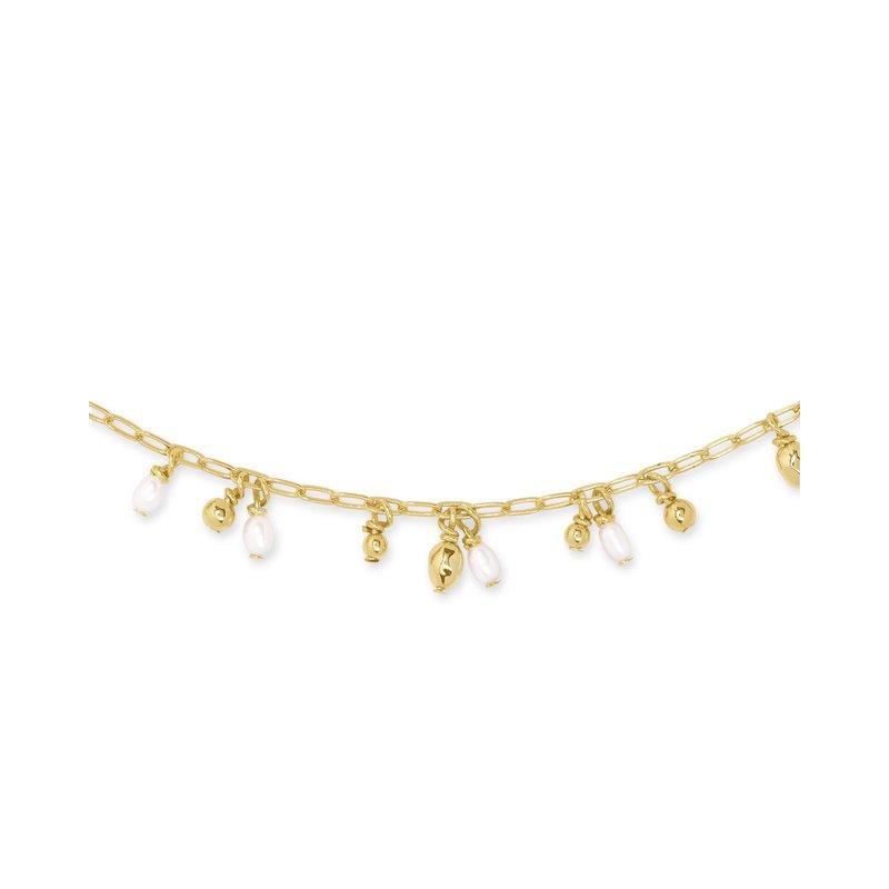 Kendra Scott Mollie Choker Necklace Gold White Pearl