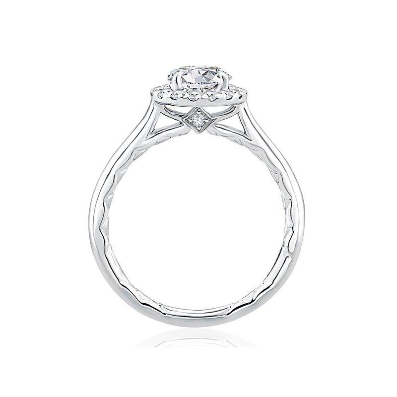 A. Jaffe Diamond Halo Engagement Ring