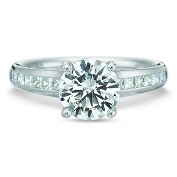 Flush Fit Princess Diamond Channel Engagement Ring