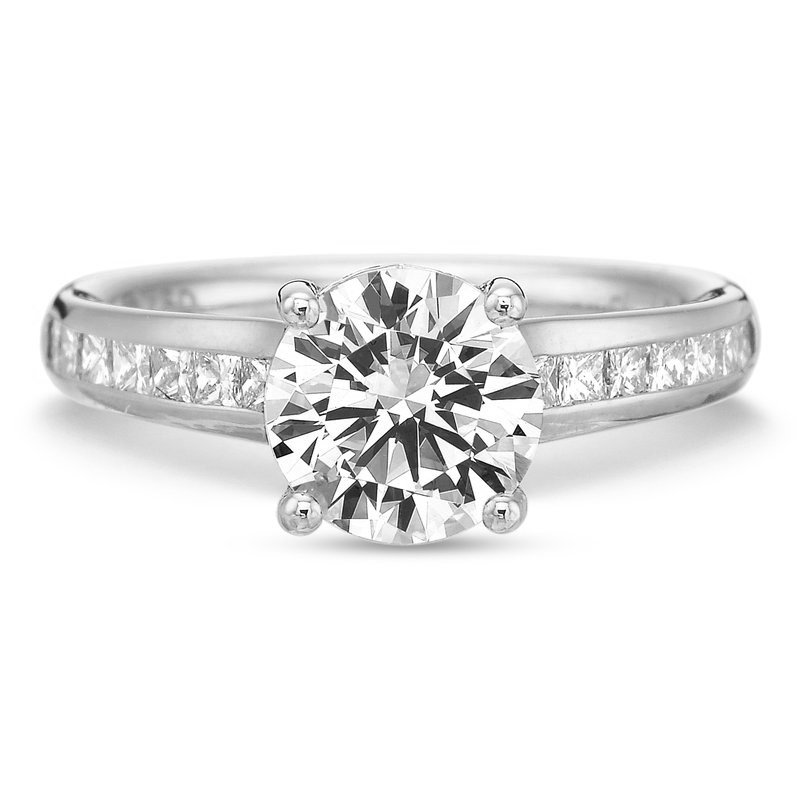 Precision Set Diamond Channel Engagement Ring