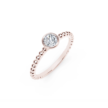 The Forevermark Tribute ™ Collection Beaded Solitaire Ring