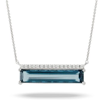 London Blue Bar Necklace