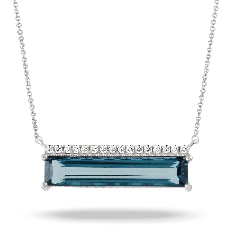 Doves London Blue Bar Necklace