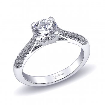 Diamond Micro Pavé Engagement Ring
